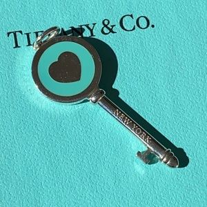 Tiffany & Co blue enamel key